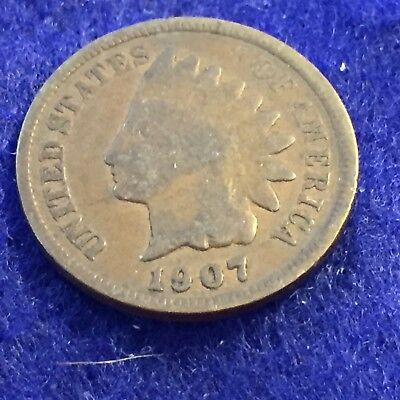 1907 Indian Head Cent  See Pictures  Easy Shipping # 1214