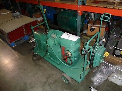 Reeves 5Hp Variable Speed Motodrive With Tri-Clover Displacement Pump And Cart