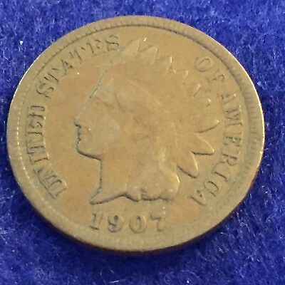 1907 Indian Head Cent  See Pictures  Easy Shipping # 1218
