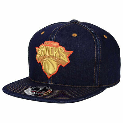 online store 90be3 372a0 New York Knicks M N NBA Denim Basketball Fitted Cap Hat Men s Mitchell   Ness  NY