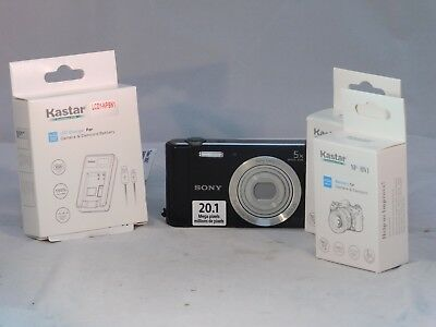 Sony Cyber-shot DSC-W800 20.1MP Digital Camera - Black