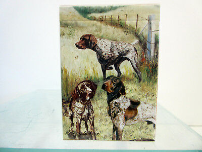 German Shorthaired Pointer Pair Notecards Set 12 Note Cards By Ruth Maystead