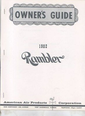 1902 Rambler Automobile 1959 American Air Replica Owner's Manual Brochure wz2900