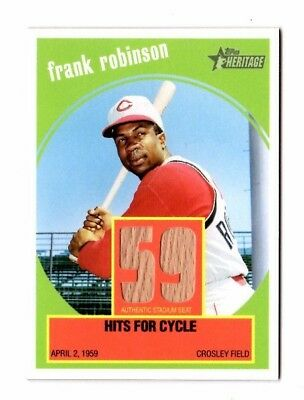 Frank Robinson Mlb 2008 Topps Heritage Flashbacks Seat Relics (Reds,indians)