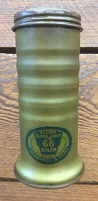 "Eagle No 66 Oil Can 5"" Rare Brass Cylinder Oiler USA Advertising Paper Label"