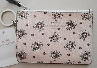 Nwt Coach Mini Skinny id credit coin wallet case F11849 in chalk/multi first bud