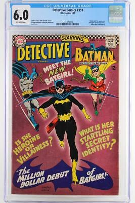 Detective Comics #359 - CGC 6.0 FN - DC 1967 -Batman- 1st App/ORIGIN of Batgirl!