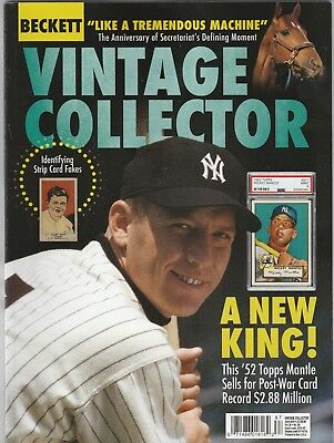 New Current Beckett Bb, Fb, Bsk & Hockey Vintage Price Guide, June 2018 (Mantle)