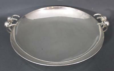 Large Vintage Mid-Century Art Modern Mexico Sterling Silver Center Bowl