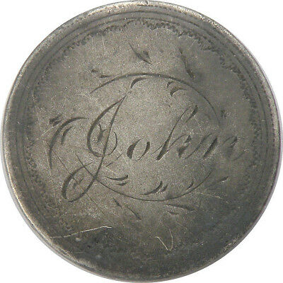 1853 Seated Liberty Dime Love Token Engraved John