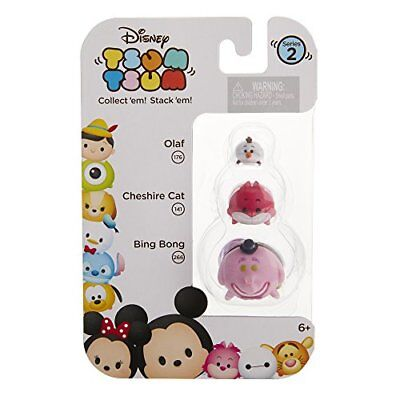 DISNEY 3pc Set TSUM TSUM Figure OLAF 176+CHESHIRE CAT 141+BING BONG 266 Series 2