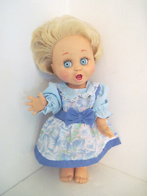 "Vintage GALOOB 1990 Baby Face ""So Surprized Suzy"" Doll #2 - Very Poseable- CUTE!"