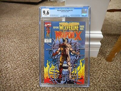 Marvel Comics Presents 72 cgc 9.6 Origin of Wolverine WHITE pages MINT movie TV