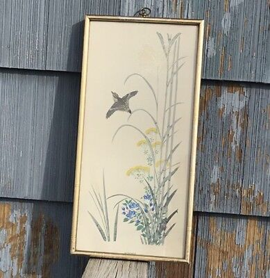 """""""Summer""""  Turner Wall Accessory Circa  1960'S. Oriental Birds And Flowers"""