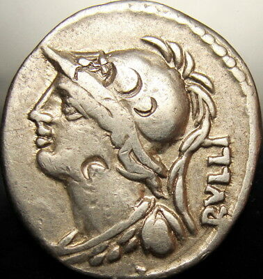 Servilia mother of Brutus.Light  gold iridescent Roman REPUBLIC Denarius.RARE