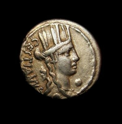 Cult of Cybele Mother Earth.Gold iridescent tone coin Imperator M f Caestianus