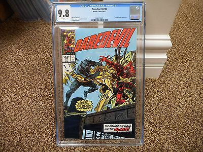 Daredevil 245 cgc 9.8 Black Panther cover WHITE pages Marvel 1987 MINT movie TV