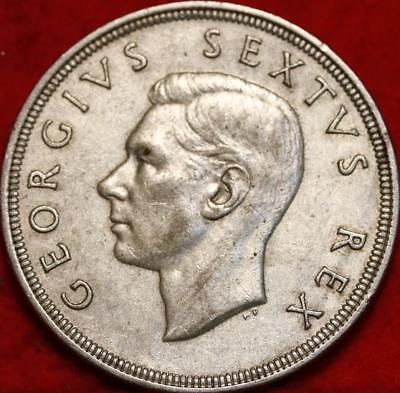 1951 South Africa 5 Shillings Silver Foreign Coin