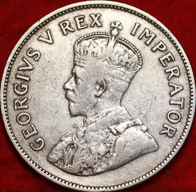 1932 South Africa 5 Shillings Silver Foreign Coin