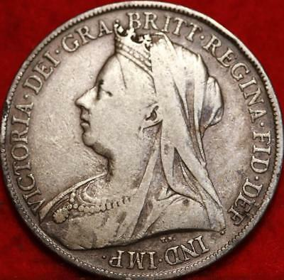 1900 Great Britain Crown Silver Foreign Coin