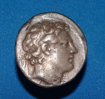 "ca175-164 B.C. ""ANTIOCHUS IV EPIPHANES"" HELLENISTIC GREEK KING -TETRADRACHM COIN"
