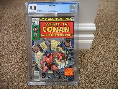 What If 13 cgc 9.8 Marvel 1979 1st series Conan Red Sonja Barbarian WHITE p MINT