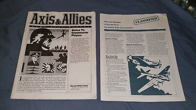 AXIS AND ALLIES second edition: instruction manual and rules clarifications