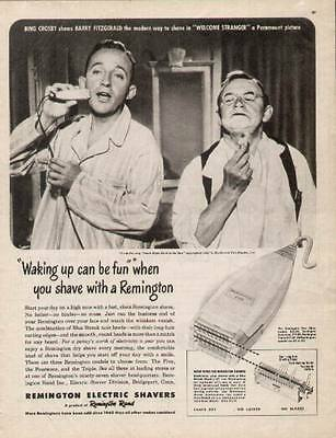 Bing Crosby & Barry Fitzgerald 1947 ad for Remington Electric Shavers