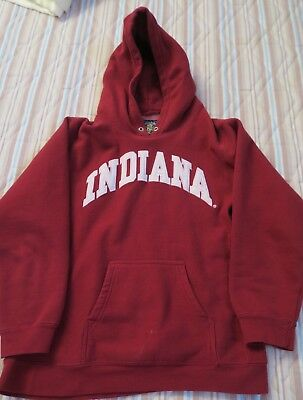 Indiana University Iu  Sweatshirt With Hood Steven Barrys  Youth 10-12