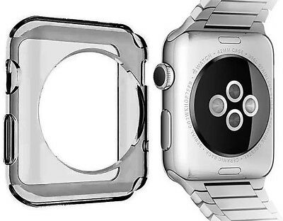 SMOKE TRANSPARENT FLEXIBLE TPU SKIN CASE COVER FOR APPLE WATCH (SERIES 3, 42mm)