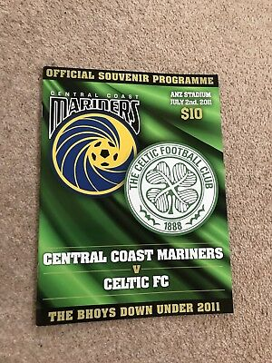 Central Coast Mariners Australia v Celtic Celtic 2011 Official Programme Mint