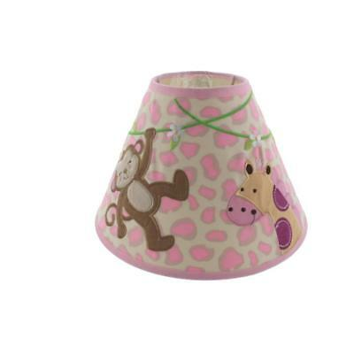 Koala Baby Pink Applique Monkey/Giraffe Embroidered Nursery Lamp Shade BHFO 2952