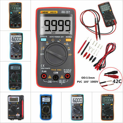 New ANENG AN8008 True-RMS Digital Multimeter 9999 Counts Square Voltage Ammeter