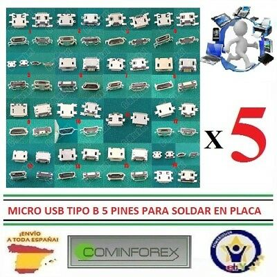 Conector Micro Usb Puerto Carga movil Charging Port Jack Connector Mobile phone
