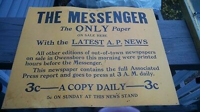 Owensboro,Kentucky.The Messenger The Only Paper 3 cents A Copy Daily