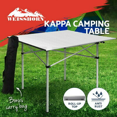 Roll Up Camping Table Folding Portable Picnic Outdoor Garden BBQ Aluminum Desks