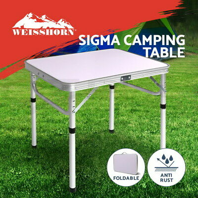 Weisshorn Folding Camping Table Portable Laptop PC Bed Dining Desk Picnic Garden