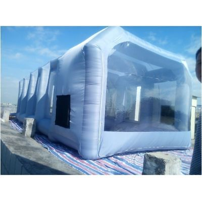 Inflatable Paint Spray Booth Car Workstation Tent + Air Blower + Repair Kits