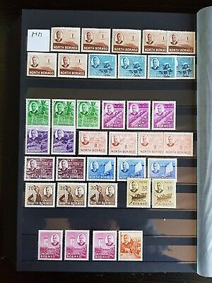 Super Selection North Borneo Kings Issues - Uncatalogued - Mounted Mint x37
