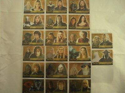 Lord of the Rings Evolution A 1A-20A Trading Cards Set
