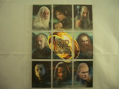 Lord of the Rings The Two Towers B1-B9 Trading Cards Set