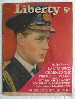 Feb. 1, 1936 Liberty magazine - Prince of Wales (King Edward VIII) on cover
