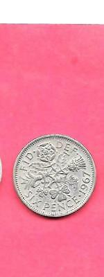 Great Britain Gb Uk Km903 1967 Vf-Very Fine-Nice Old Vintage 6 Pence Coin