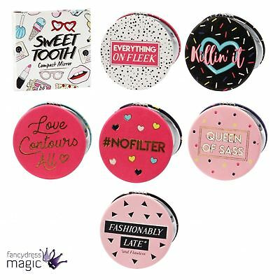 Sweet Tooth Quote Compact Handbag Pocket Mirror Hen Party Wedding Favour Gift
