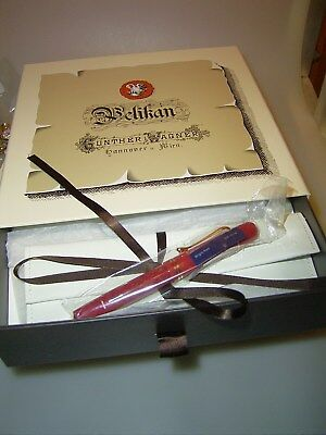 PELIKAN M101N Bright Red Special Edition Füllhalter, Box, Tinte