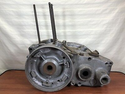 Vintage Original 1940's 1950's Antique Motorcycle CZ 125 Engine Cases