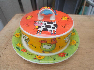 Dunoon Funky Farm Cheese or Butter Dish with Underplate