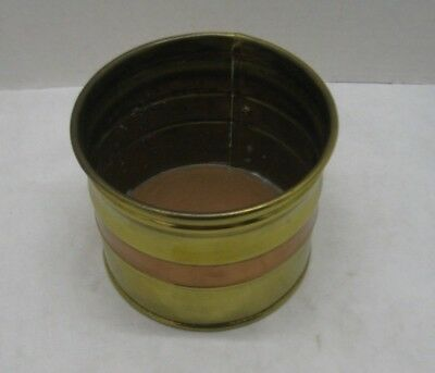 Brass Copper with a Copper inside Bottom Small Bucket Planter Canister