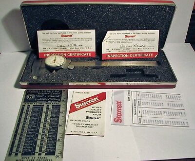 Starrett 6 Inch Dial Caliper With Box No.120