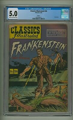 Classics Illustrated 26 HRN 62 (CGC 5.0) C-O/W pgs; Frankenstein; 1949 (c#18979)